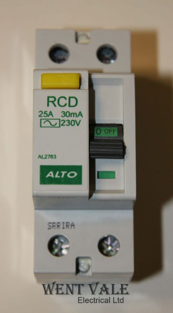 Alto AL2763 - 25a 30mA Type AC Double Pole RCD Un-used In Box